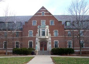 exterior of brick building