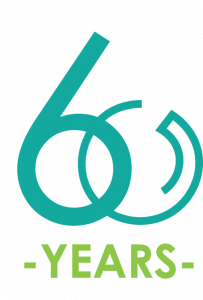 """logo with """"60 years"""""""