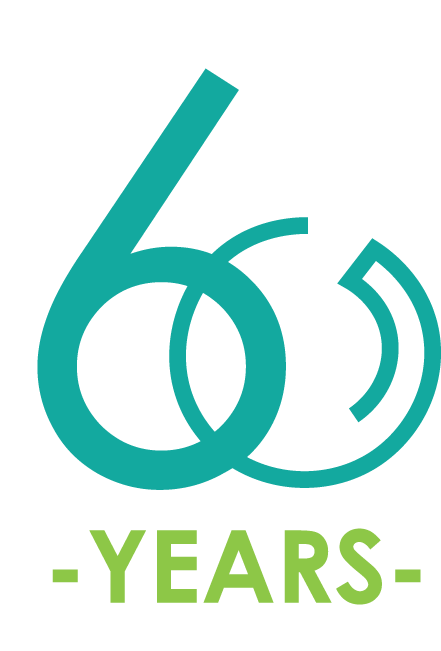 "logo with ""60 years"""