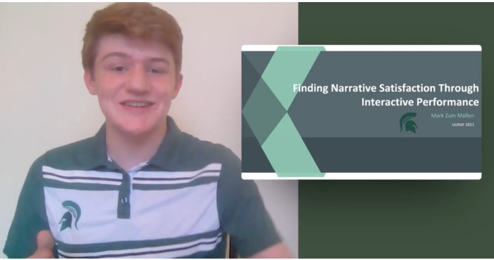 screenshot of a boys presentation video