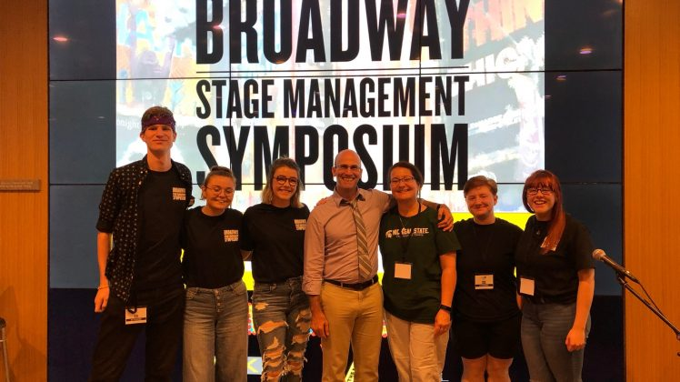 Students at the Broadway Stage Management Symposium
